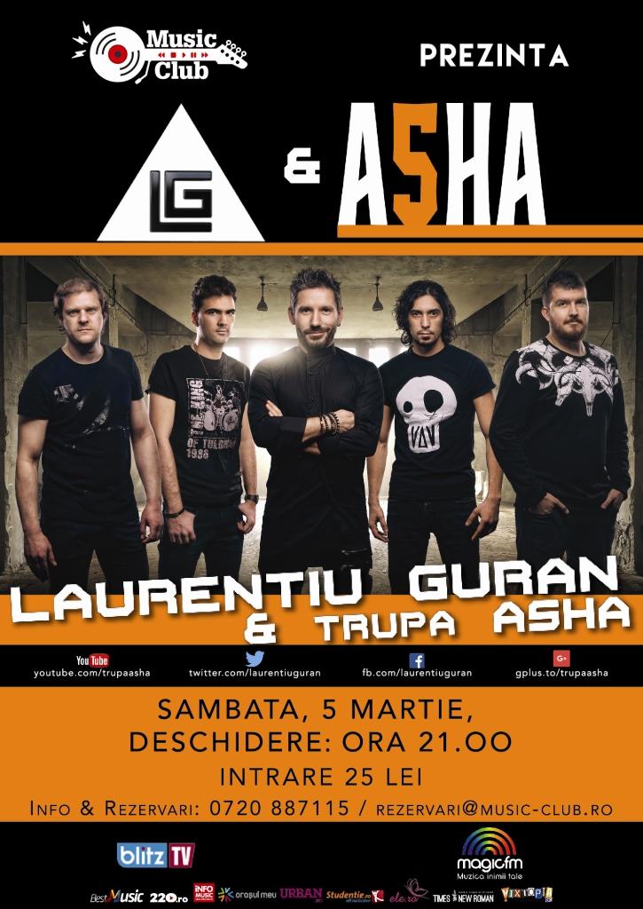 Laurențiu Guran & ASHA la Music Club