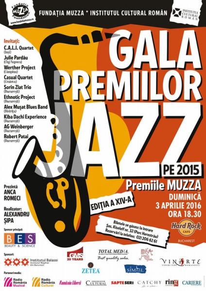 Poster eveniment Gala Premiilor de Jazz