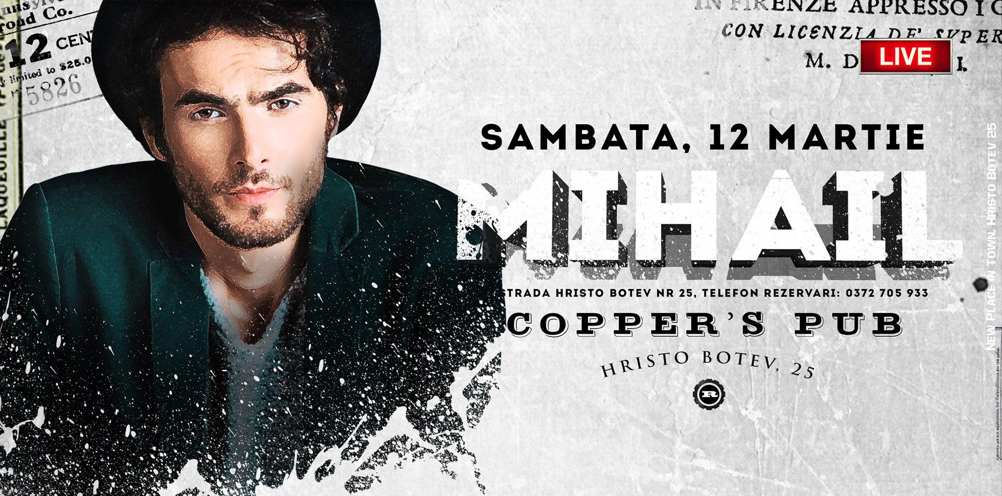 Afis Mihail Concert Copper's Pub 2016