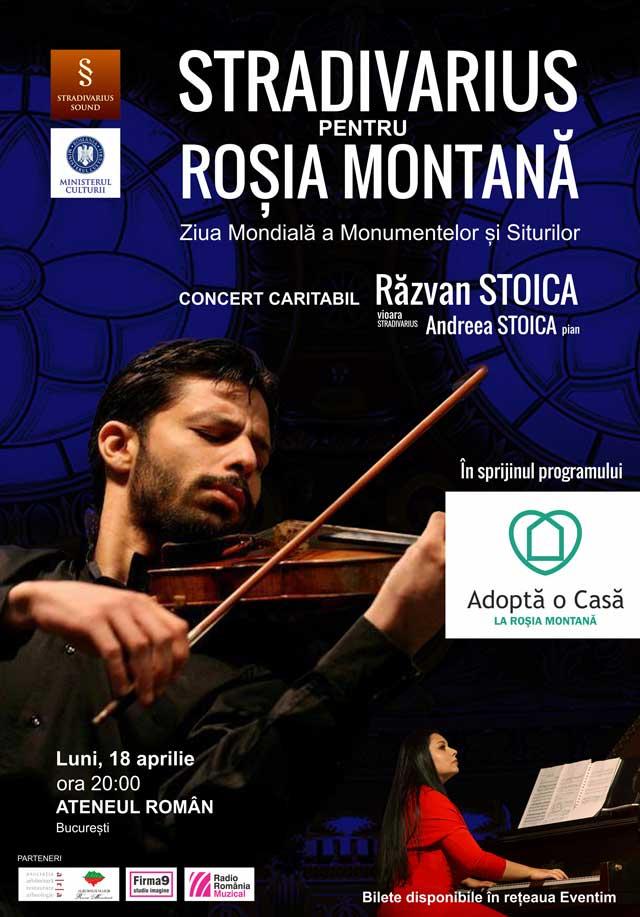 Afiş Stradivarius pentru Roşia Montană Concert 2016