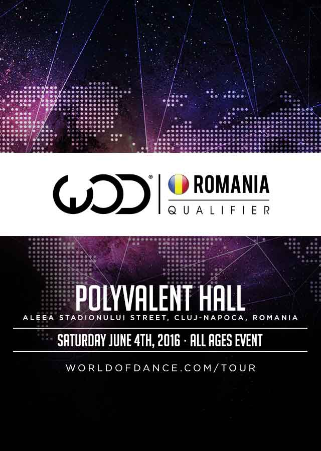 Afiş World of dance Romania Qualifier 2016