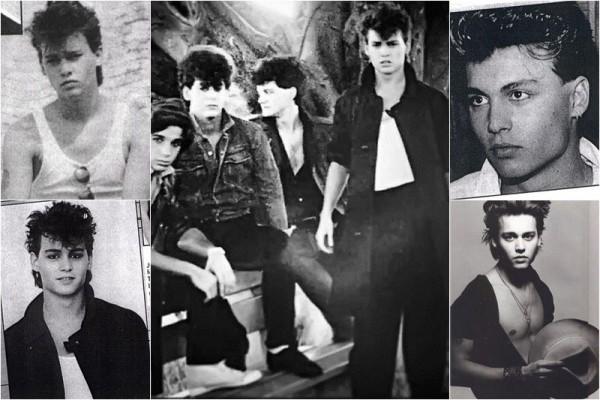 Johnny Depp tânăr, când cânta în The Kids