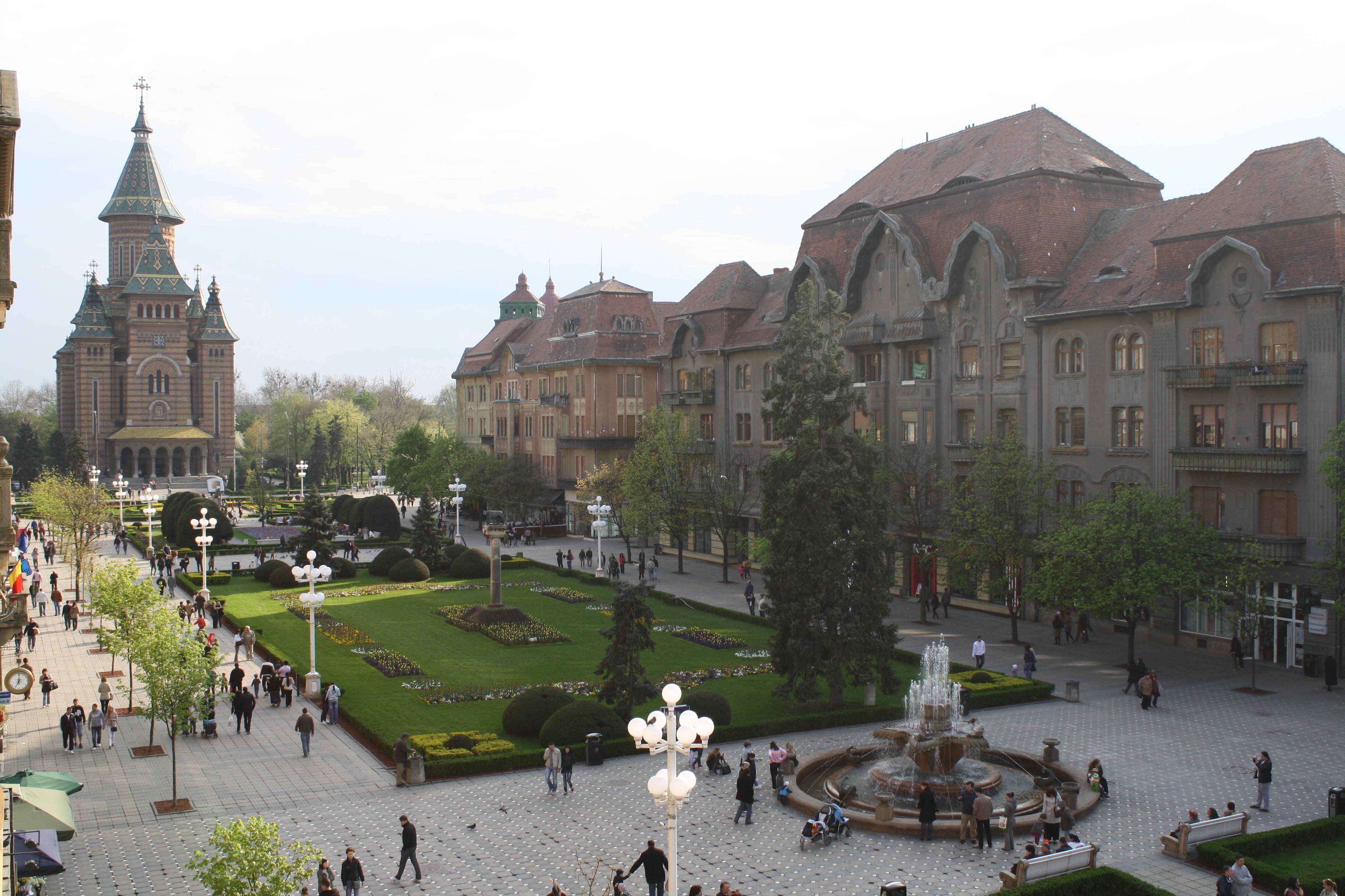 Piața Victoriei din Timișoara din Timișoara