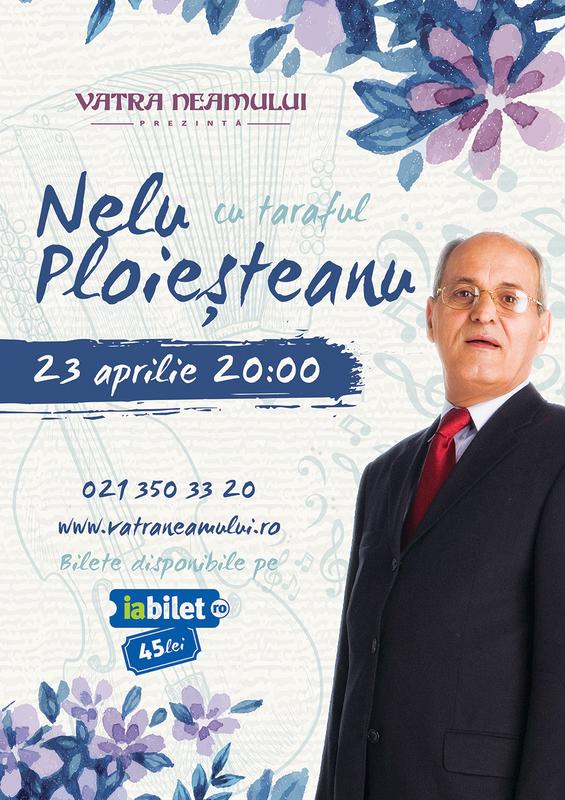 Afiş Nelu Ploieşteanu Concert Vatra Neamului 2016