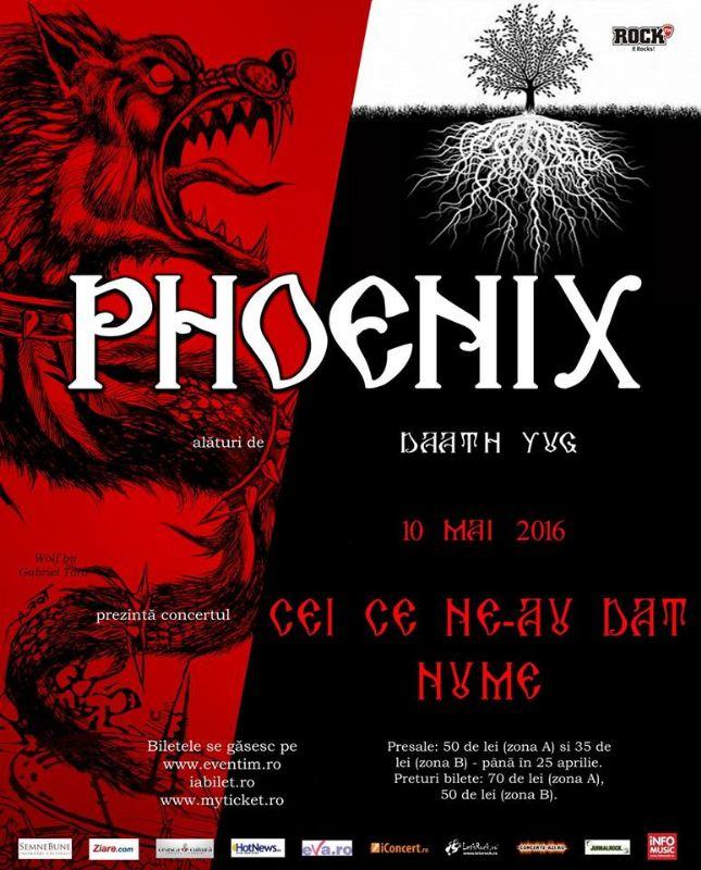 Afiş Phoenix Concert Beraria H 10 mai 2016