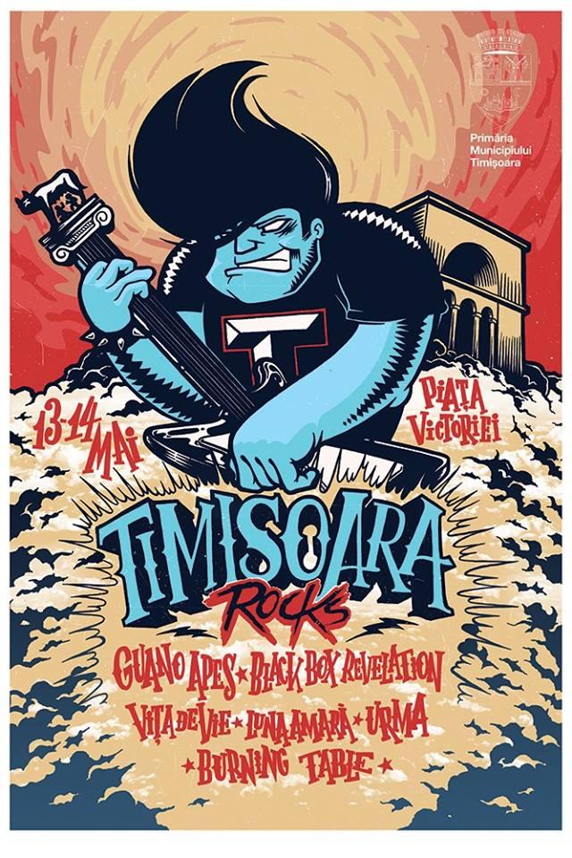Timișoara Rocks Festival la Piața Victoriei din Timișoara