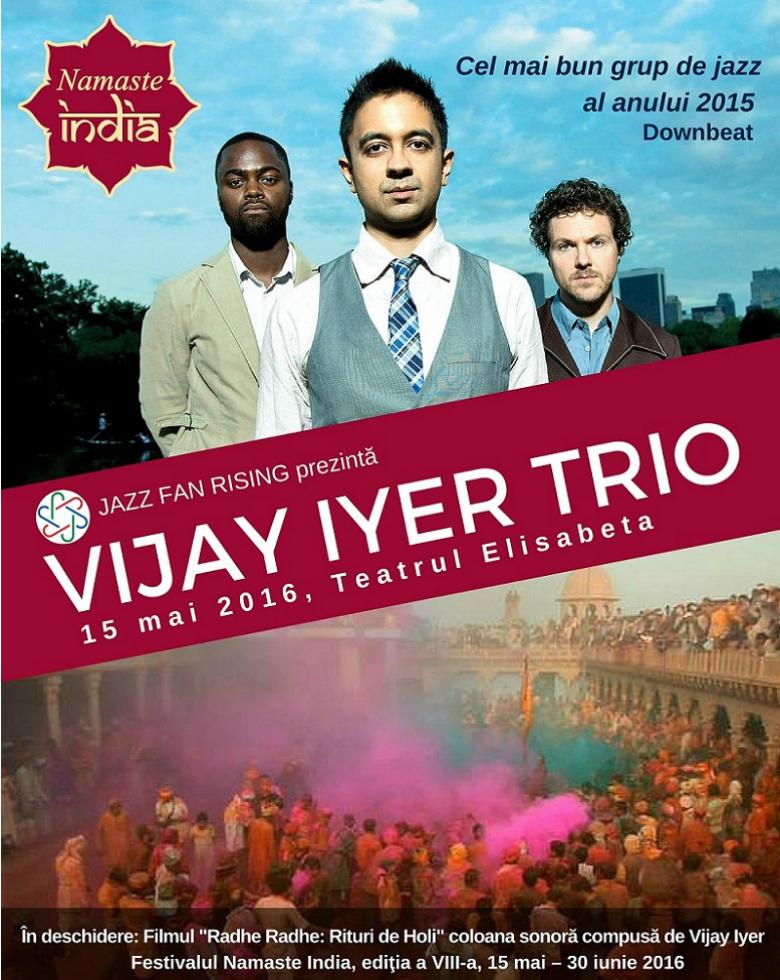 Vijay Iyer Trio la Teatrul Elisabeta
