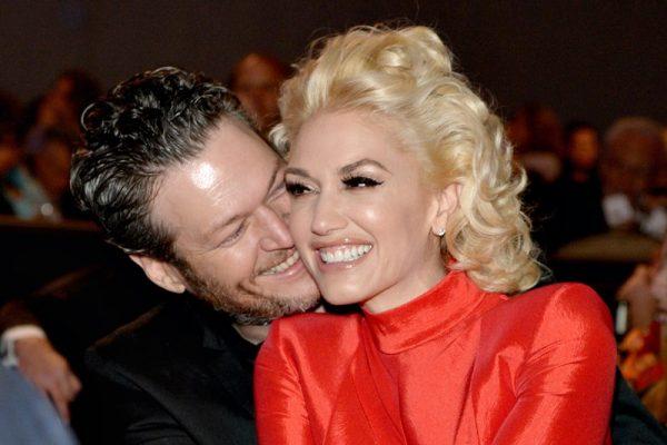 Blake Shelton și Gwen Stefani la Pre-GRAMMY Gala 2016