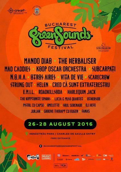 Poster eveniment BUCHAREST GreenSounds Festival 2016