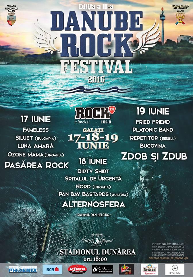 Rock la Dunăre 2016 la Stadionul Dunărea Galati