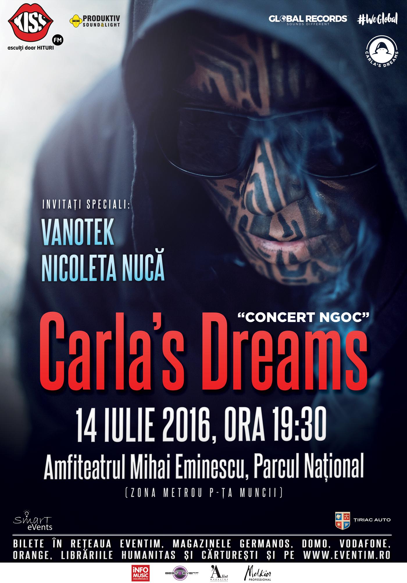 Carla's Dreams la Teatrul de Vară Mihai Eminescu