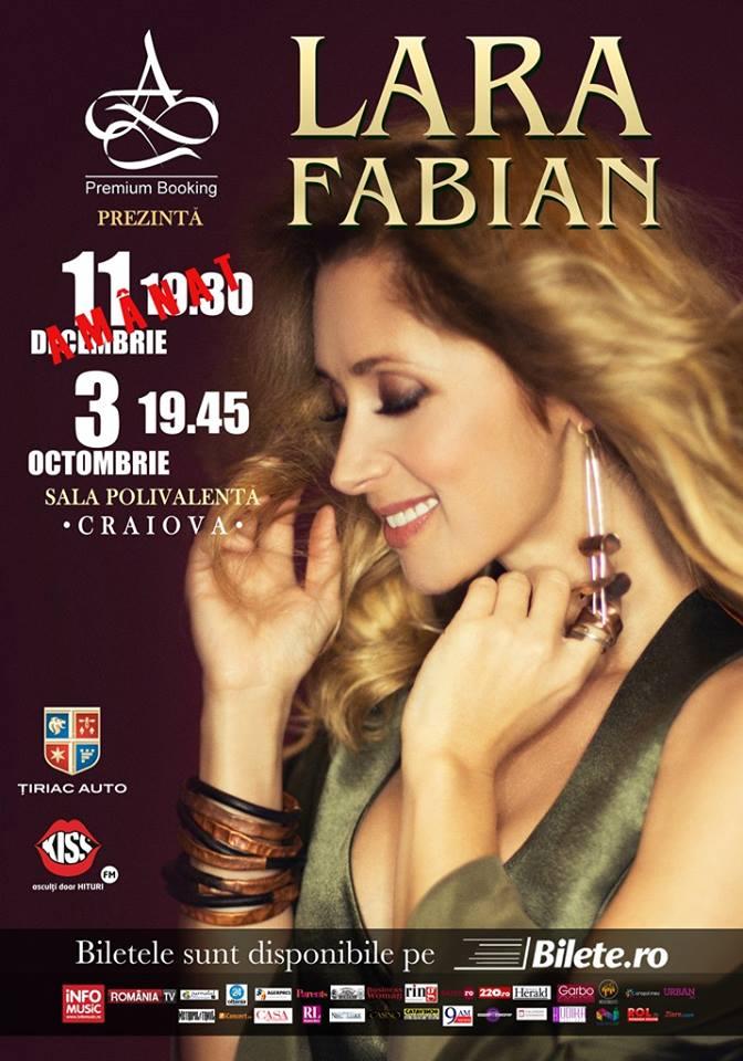 AMÂNAT - Lara Fabian la Sala Polivalentă Craiova