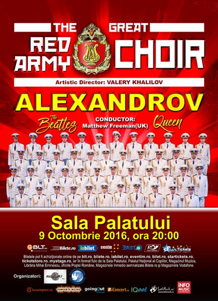 Poster eveniment Corul Alexandrov - Red Army Choir