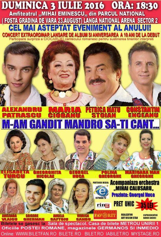 M-am gândit mândro să-ți cânt la Teatrul de Vară Mihai Eminescu