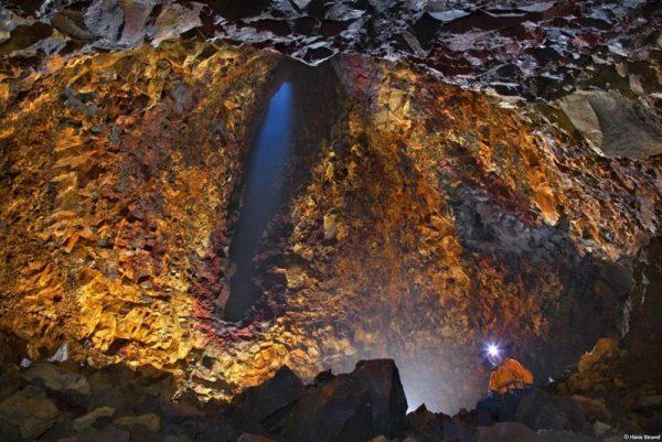 Interiorul vulcanului Thrihnukagigur