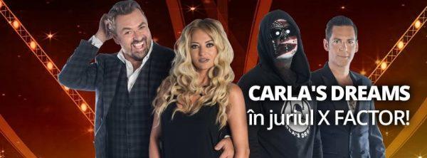Carla's Dreams în juriul X Factor
