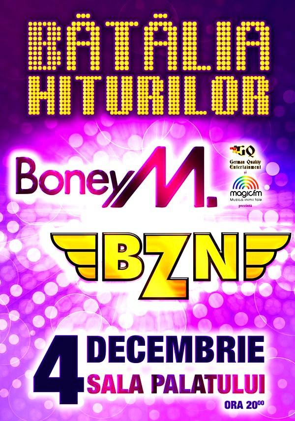 Bătălia Hiturilor: BZN și Boney M la Sala Palatului