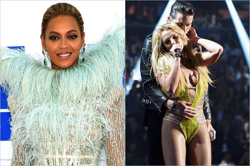 Beyonce & Britney Spears la MTV VMA 2016