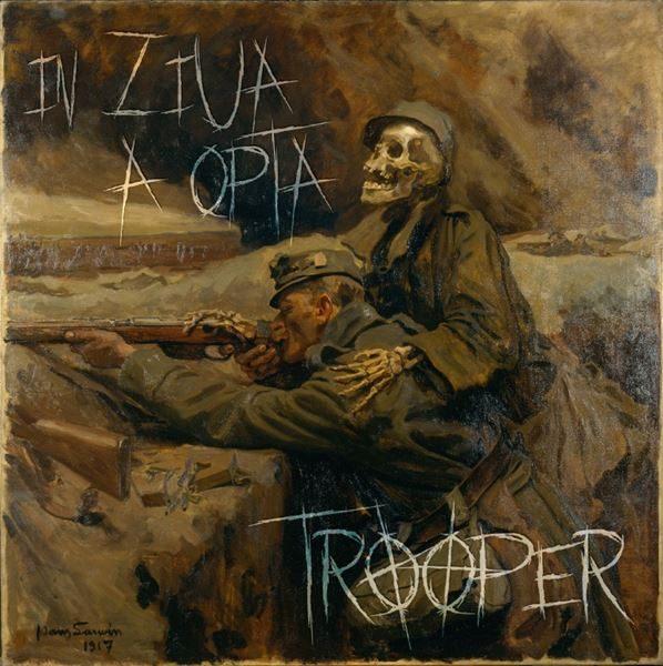"""Trooper - """"În Ziua a Opta"""" (copertă album)"""