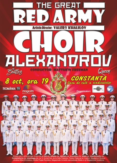 Corul Alexandrov - Red Army Choir la Casa de Cultură a Sindicatelor Constanța