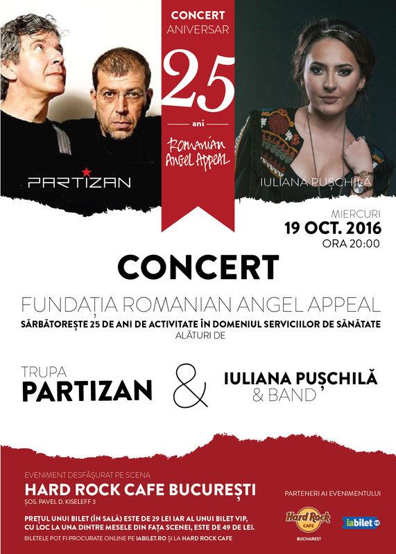 Partizan și Iuliana Pușchilă la Hard Rock Cafe