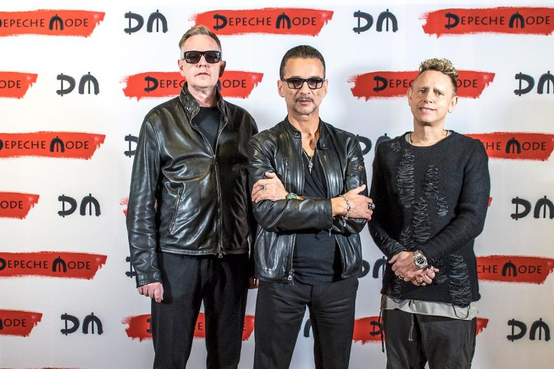 Depeche Mode la conferința de presă de la Milano (11 octombrie 2016)