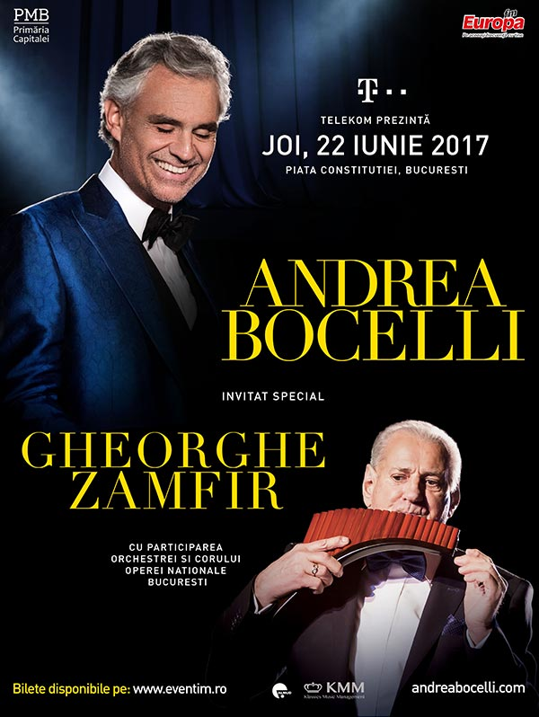 Andrea Bocelli la Cluj Arena