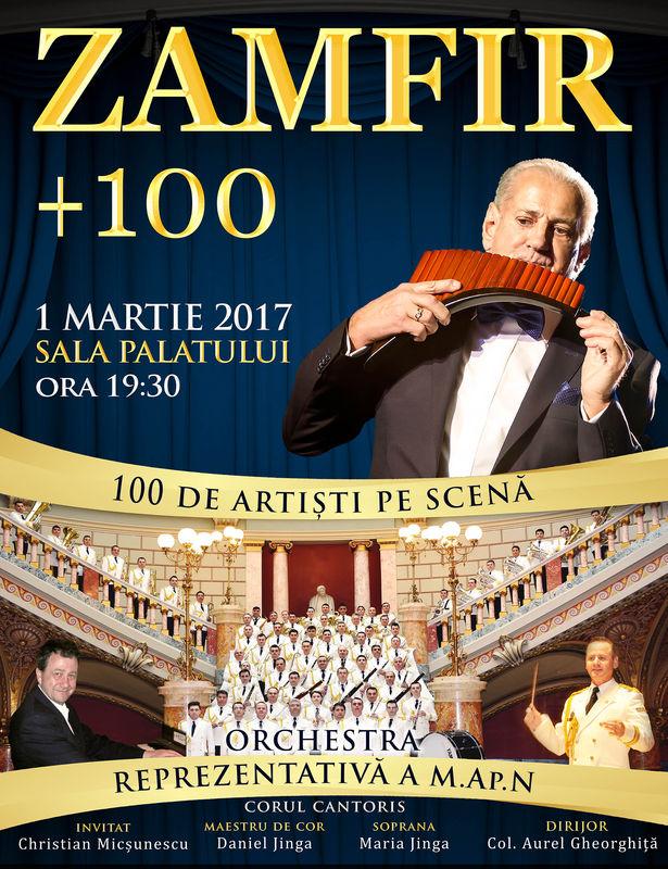 Gheorghe Zamfir +100 la Sala Palatului