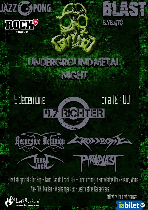 Underground Metal Night la Jazz Pong