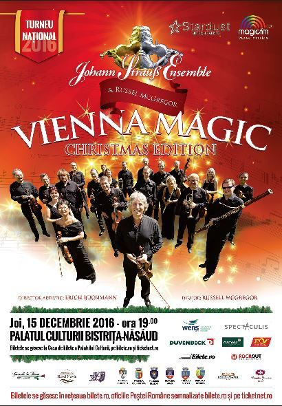 Vienna Magic - Johann Strauss Ensemble la Palatul Culturii din Bistrița Năsăud