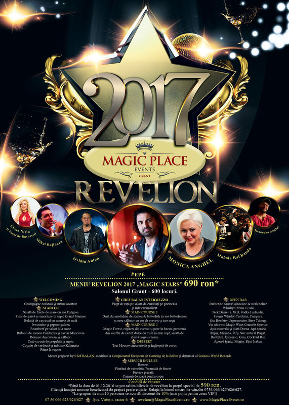 Revelion Magic Stars 2017 la Magic Place Events