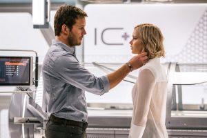 "Jennifer Lawrence și Chris Pratt în ""Passengers"""