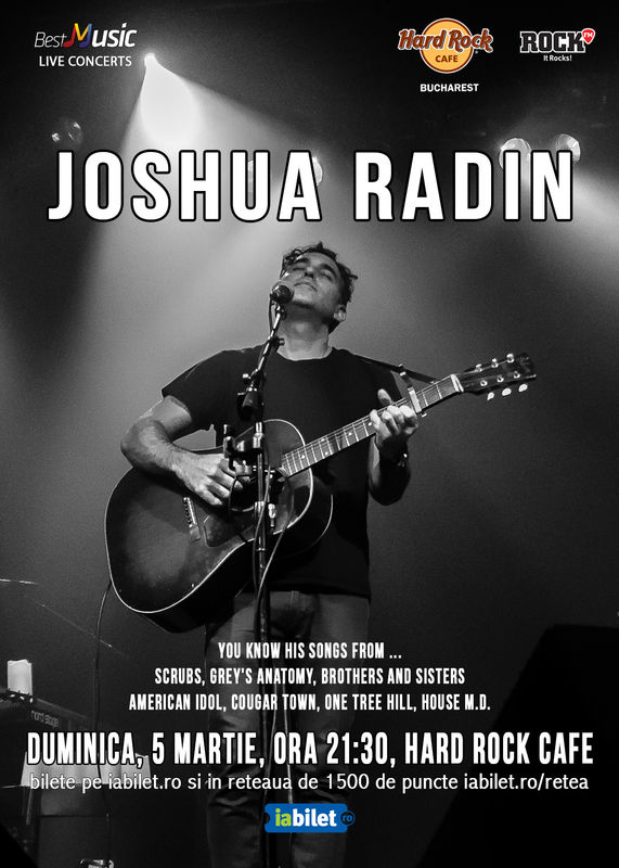 Joshua Radin la Hard Rock Cafe