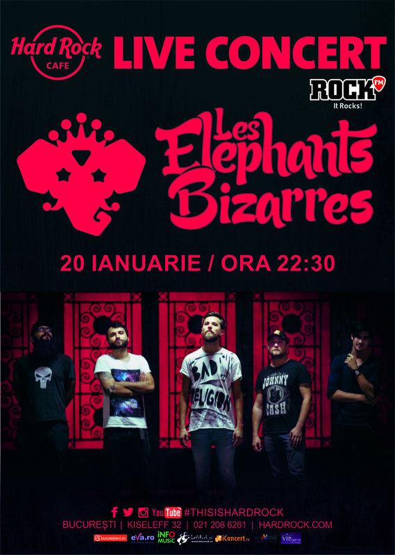 Les Elephants Bizarres la Hard Rock Cafe