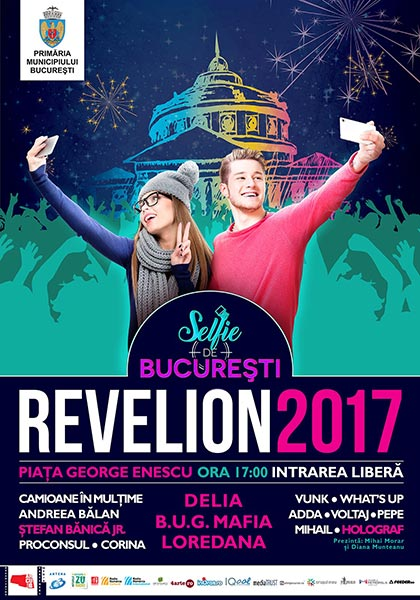 Revelion 2017: Selfie de București la Piața George Enescu