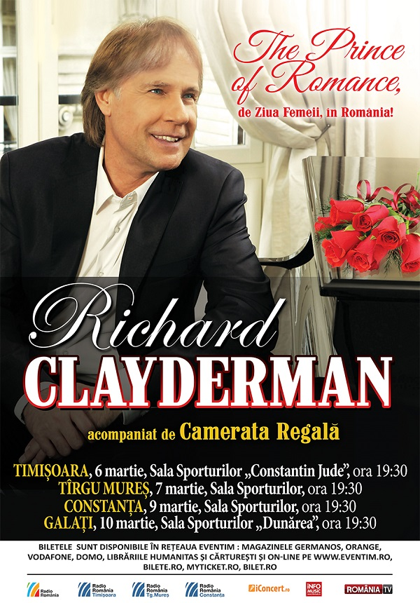 Richard Clayderman la Sala Sporturilor Galați