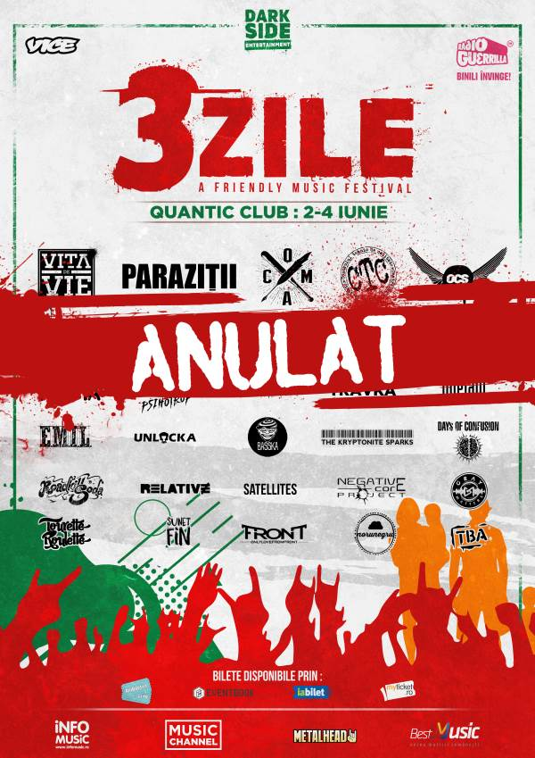 ANULAT - 3 Zile - A friendly Music Festival la Quantic Club