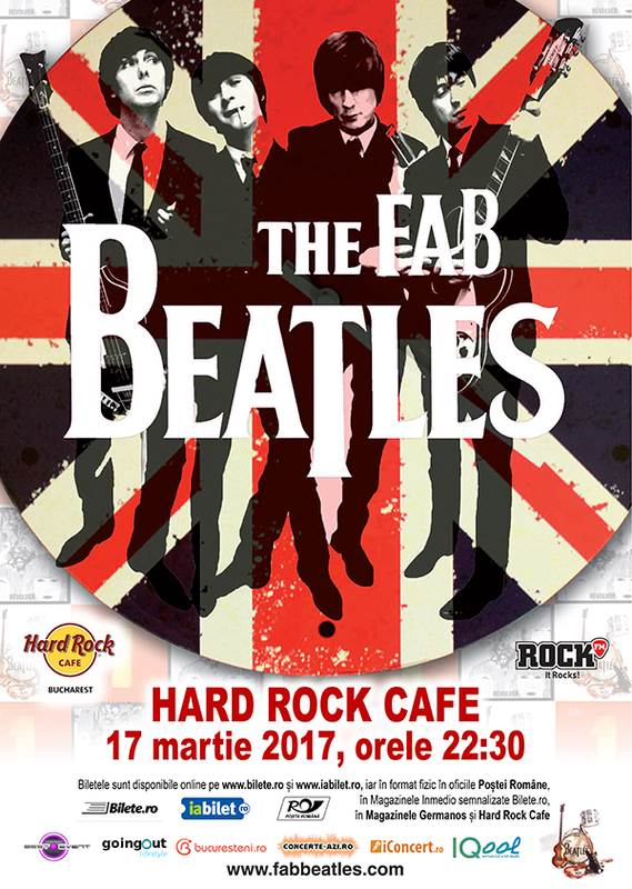 The Fab Beatles - Tribut Beatles la Hard Rock Cafe