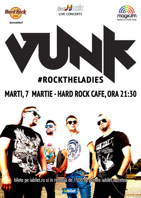 Vunk - #rocktheladies la Hard Rock Cafe