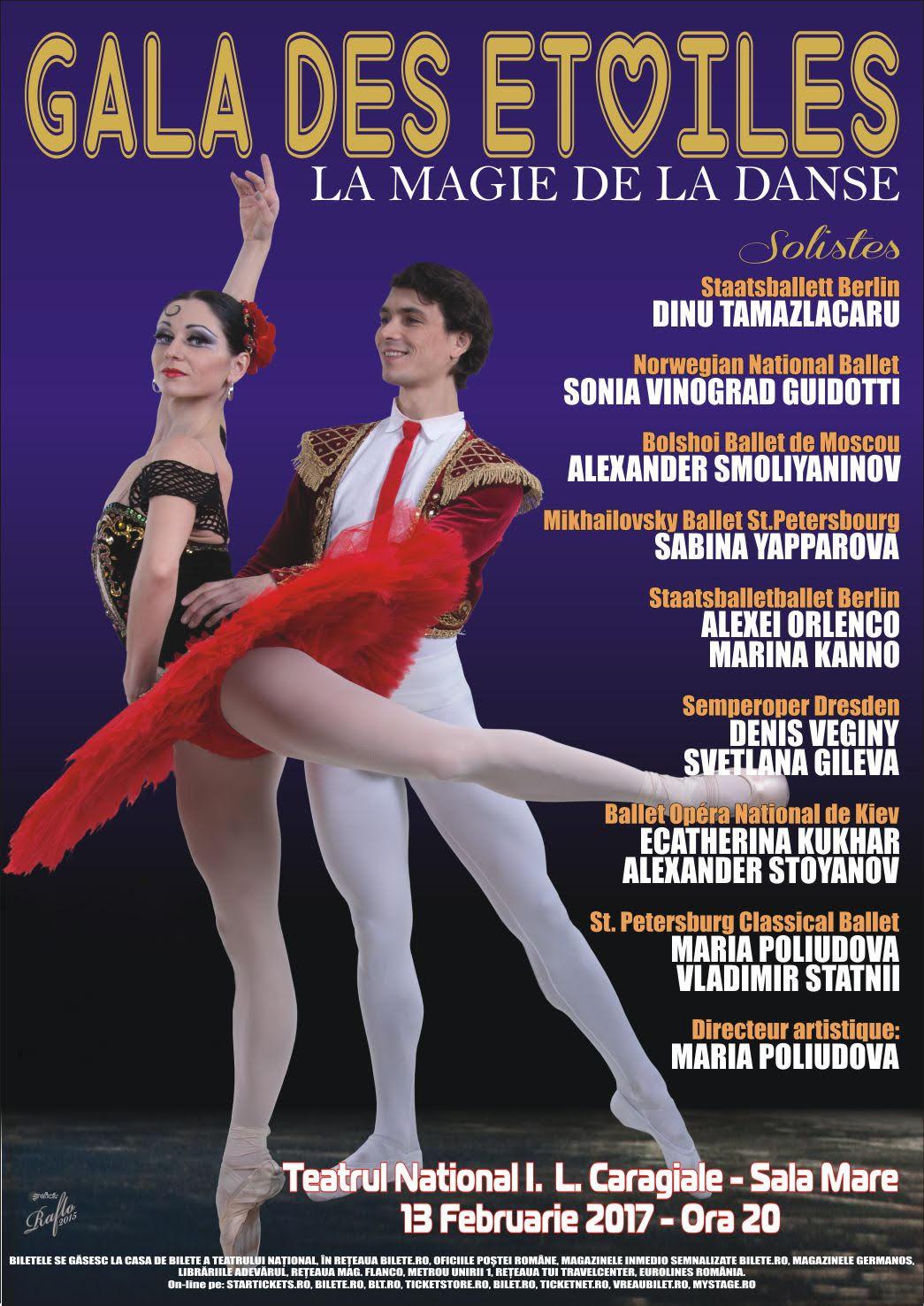 Gala Stelelor Baletului la Teatrul Naţional București
