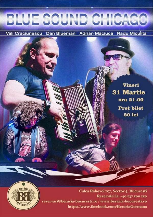 Blue Sound Chicago la Berăria Germană Bragadiru
