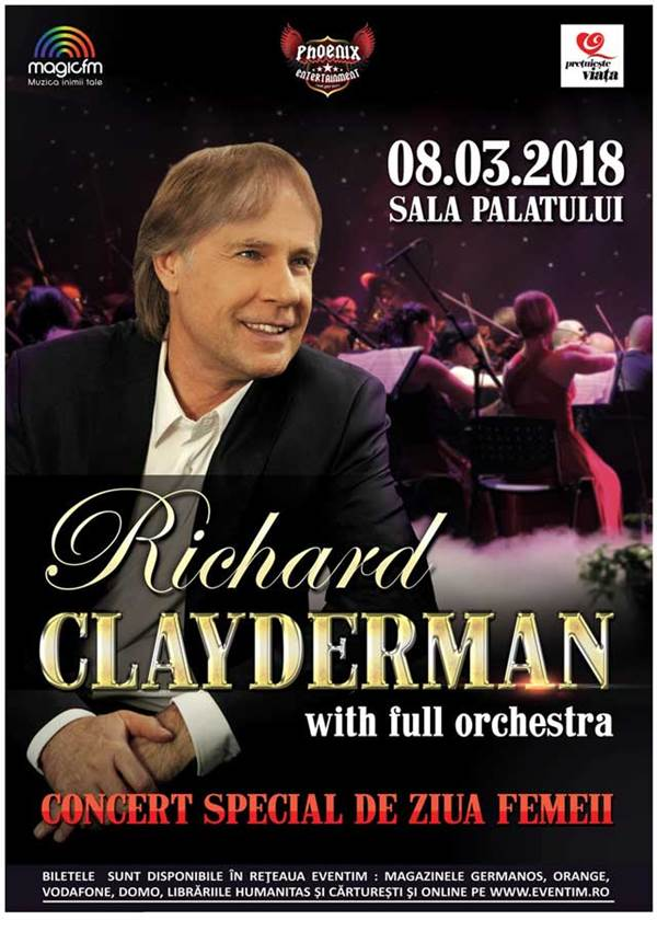 Richard Clayderman la Sala Palatului