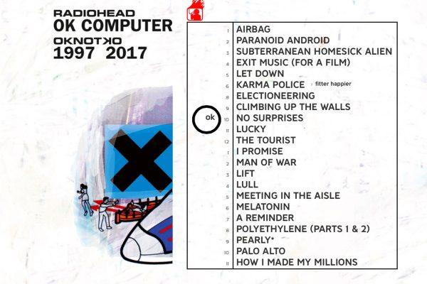 Radiohead OK Computer relansare 2017 tracklist