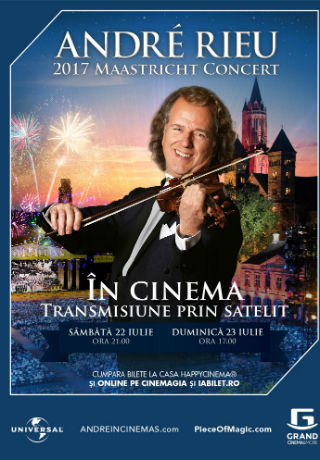Concert André Rieu - transmisiune în direct la Happy Cinema
