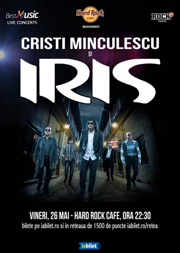 Cristi Minculescu și Iris la Hard Rock Cafe