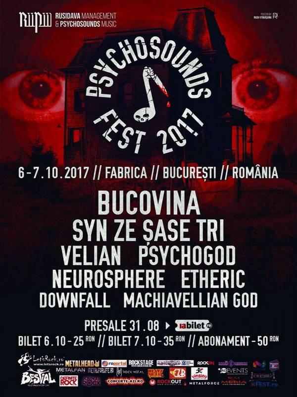 Psychosounds Fest 2017 la Fabrica