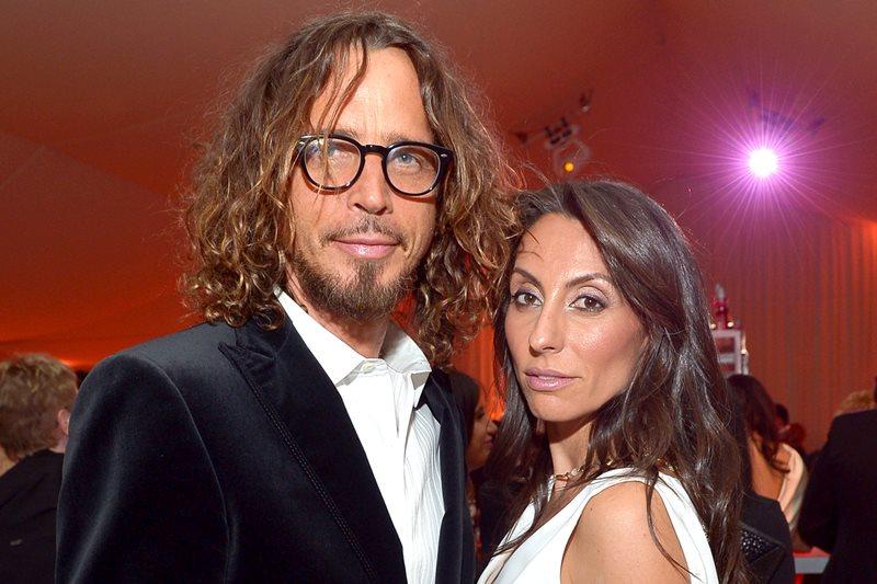 Chris Cornell împreună cu soția sa, Vicky