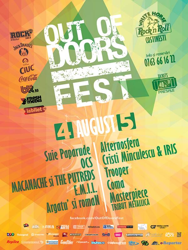 Out Of Doors Fest 2017 la Terasa White Horse Costinești