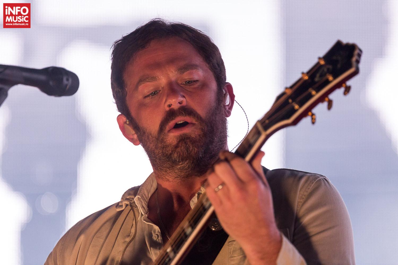 Caleb Followill în concertul Kings of Leon de la București (17 iunie 2017)
