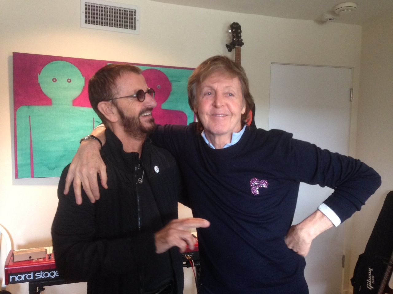 Single Ringo Starr Paul McCartney We're on the Road Again